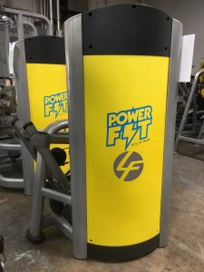 Power Fit Gym shrouds with company logo