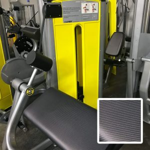 Custom upholstery: carbon fiber fabric, custom yellow shrouds