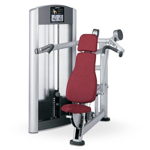Life fitness signature series shoulder press primo fitness for Maquinas para gym