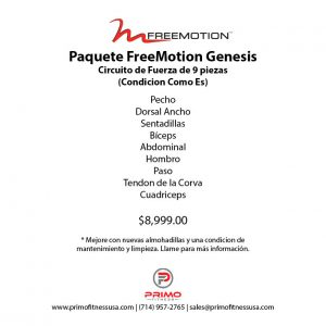 Paquete FreeMotion Genesis