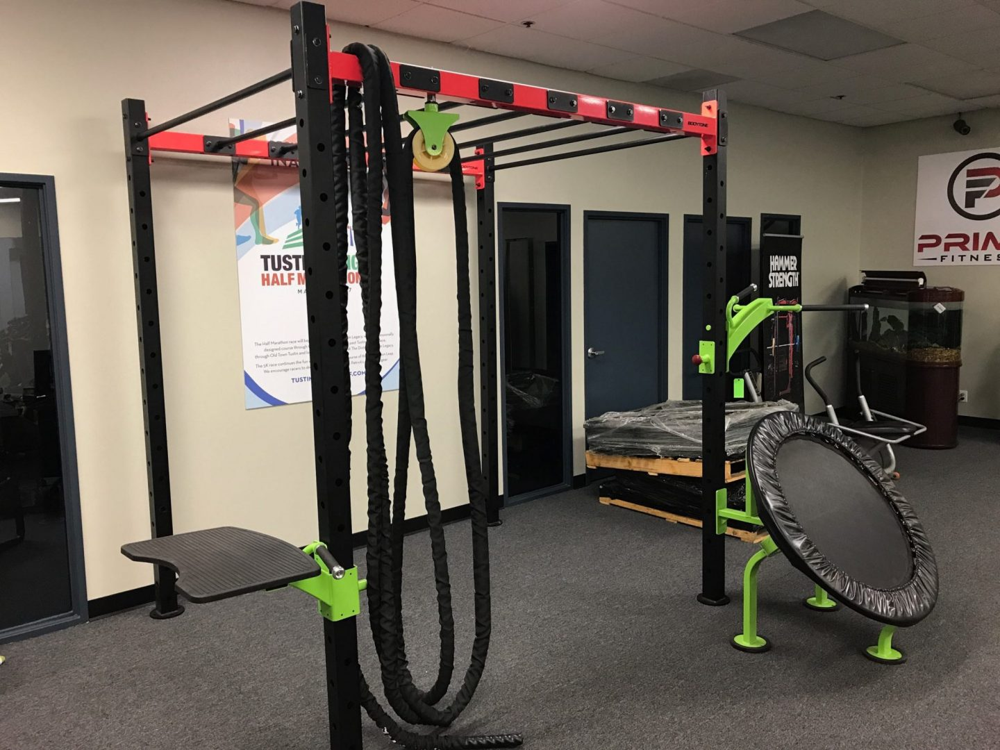 Tractor Cross Bar : Bodytone crossfit area with monkey bars new primo fitness