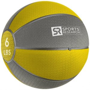 Sports Research Medicine Ball 6 lb - Yellow