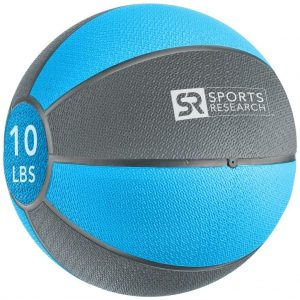 Sports Research Medicine Ball 10 lb - Blue