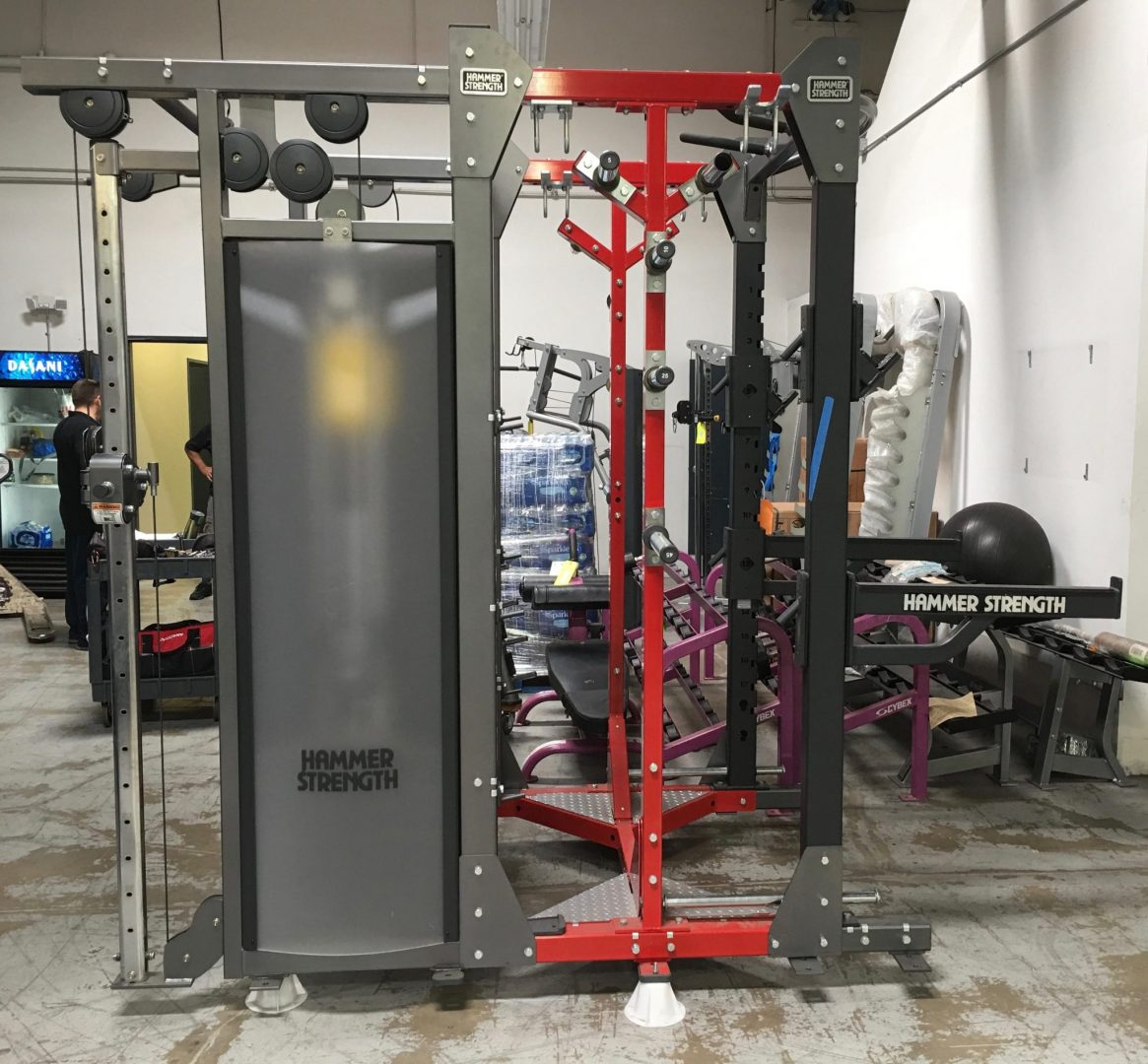Hammer Strength Half Rack Dual Adjustable Pulley Combo