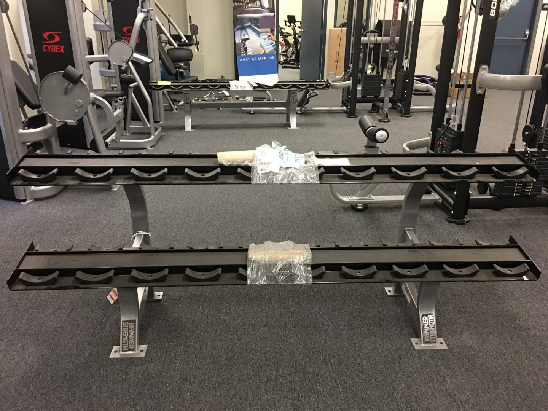 Hammer Strength Two Tier Dumbbell Rack Primo Fitness