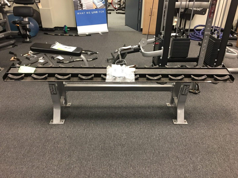 Hammer Strength Single Tier Dumbbell Rack Primo Fitness