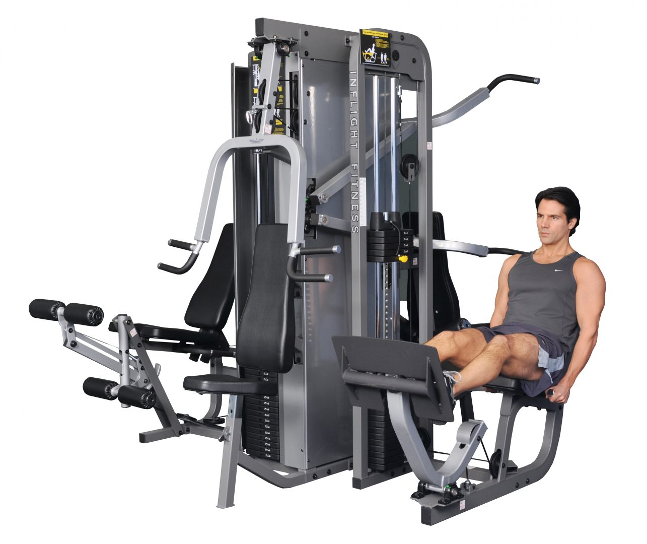 Home Exercise Equipment Usa: InFlight Fitness 3 Stack, 4 Station Multi Gym